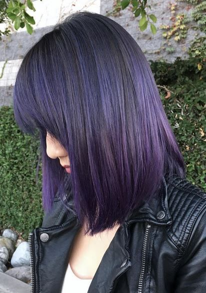 Best Hair Color Ideas 2017 2018 Amazing Violet And Black Hair
