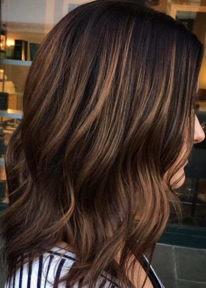 Best Hair Color Ideas 2017 / 2018 dimensional brunette highlights