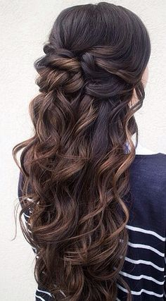 Trendy Curly Hair 2017 2018 2016 Half Up Down Prom Hairstyles