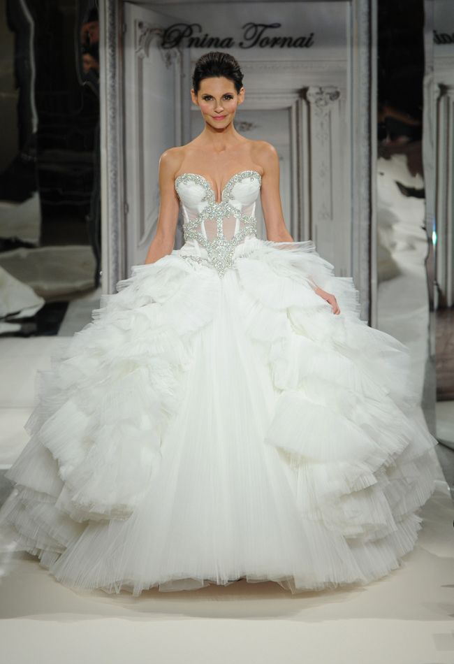 Wedding Dresses Ball Gown Daring And Sexy Pnina Tornai Wedding