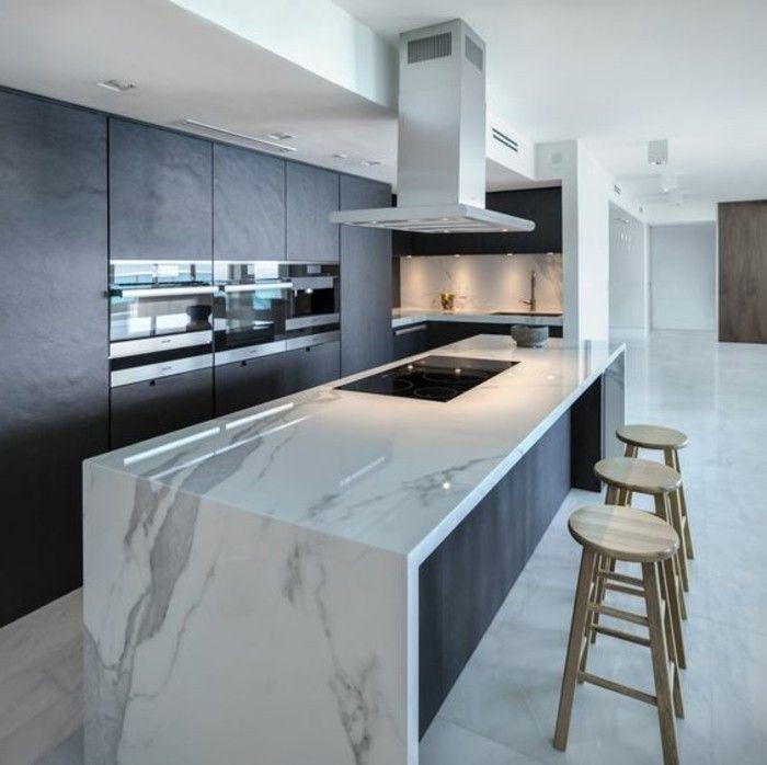 Modern Kitchen Design Cuisine Avec Ilot Central Plan De Travail