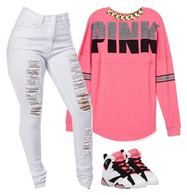 Womenu2019s Sneakers Outfits 2017 / 2018 u0026quot;Pink.u0026quot; by prettygirlnunu liked on Polyvore featuring ...