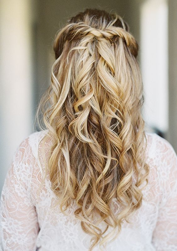 Wedding Hairstyles Simple Half Up Half Down Wdding Hairstyle Idea