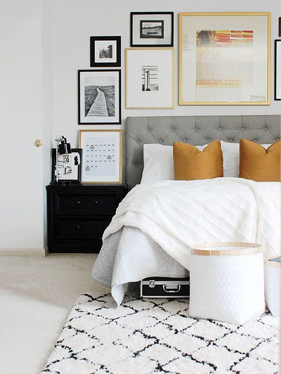 Gold Black And Grey Bedroom Design Ideas