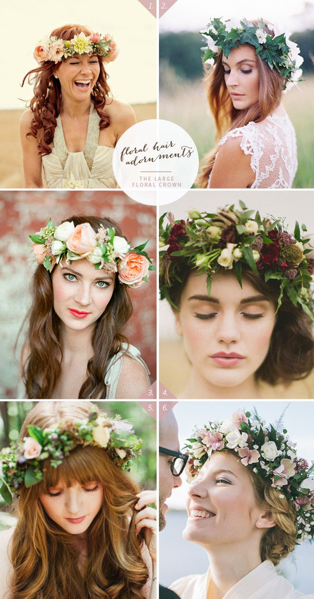 Wedding Hairstyles Wedding Hairstyle With Large Floral Crown