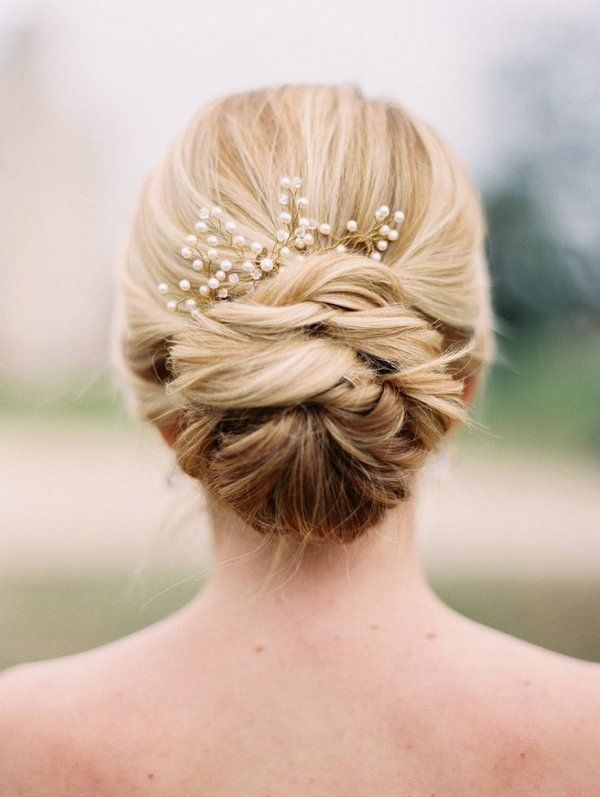 Wedding Hairstyles Wedding Updo Hair With Pearls Trendyideas