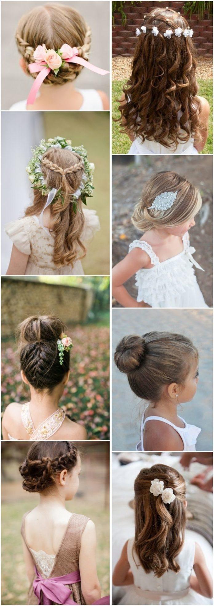Wedding Hairstyles Cute Little Girl Hairstyles-updos Braids Waterfall / Www.deerpearlflow ...