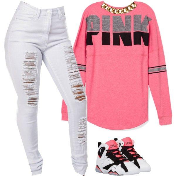 Women S Sneakers Outfits 2017 2018 Pink By Prettygirlnunu On