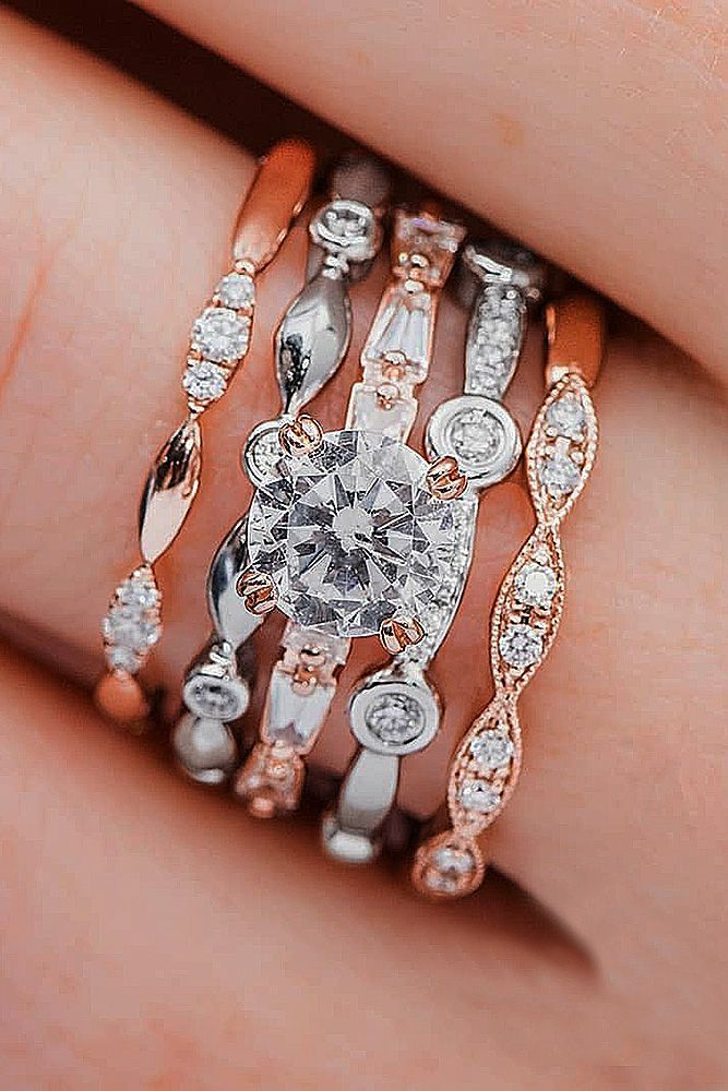 gallery viewing bands photo diamond for double of wedding stunning engagement photos unusual sales rings attachment intended