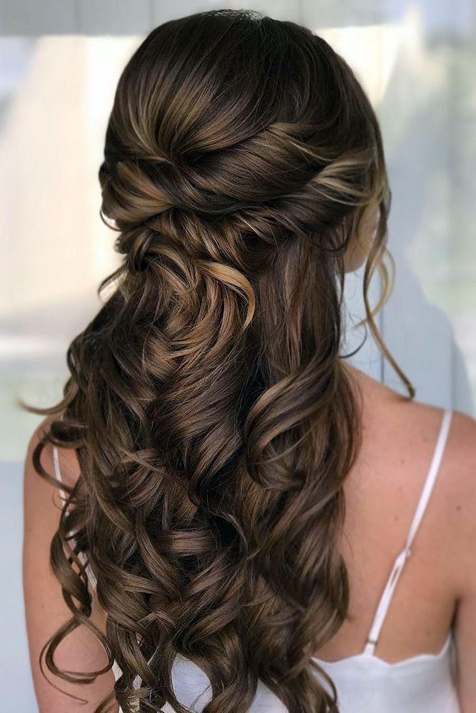 Wedding Hairstyles: Wedding Hair Half Up Ideas #weddings #bride ...
