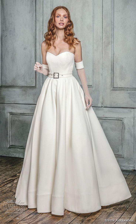 Best A-Line Wedding Dress: justin alexander fall 2018 signature ...
