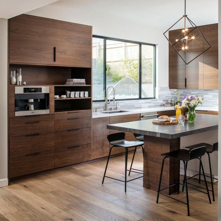Walnut Kitchen Designs: Modern Kitchen Design : Modern Kitchen Includes Rich