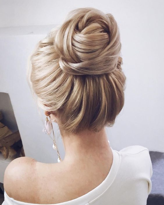 Wedding Hairstyles Textured Wedding Updo Hairstyle Messy Updo