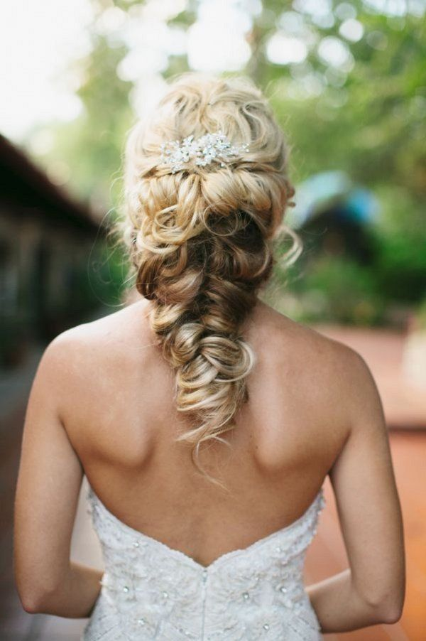 Wedding Hairstyles: twisted fishtail braid updo wedding hairstyle ...