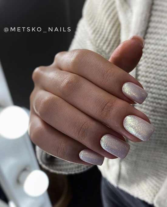 Beautiful manicure for a tan
