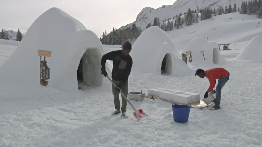 how to build an igloo out of snow