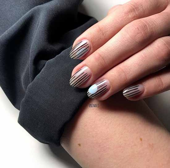 Medium nails elegant manicure