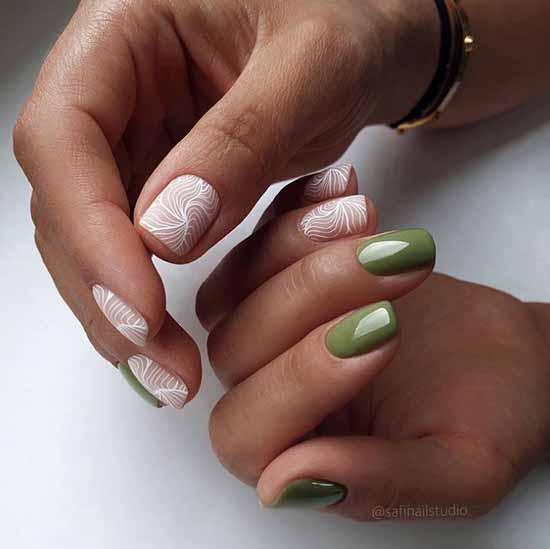 Elegant short manicure