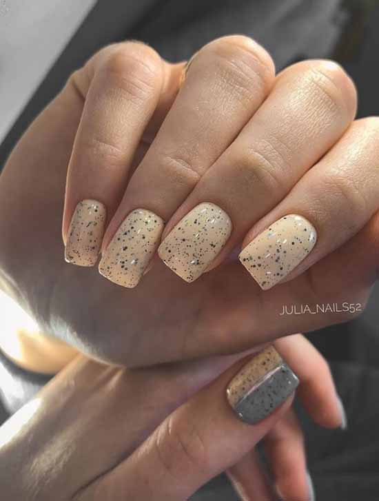 Quail egg nail design