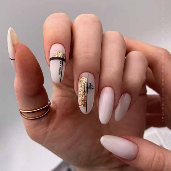 Nude long nails
