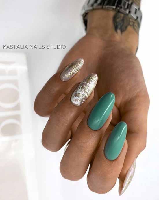 Elegant long manicure