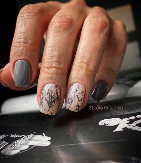 Elegant marble manicure