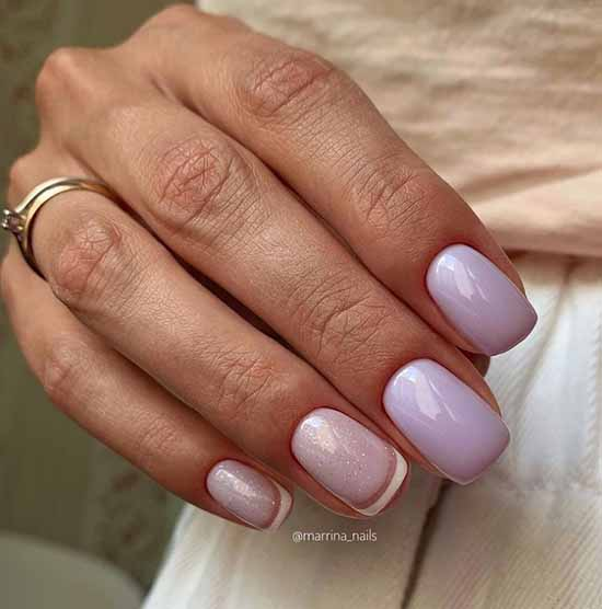 French in pastel colors