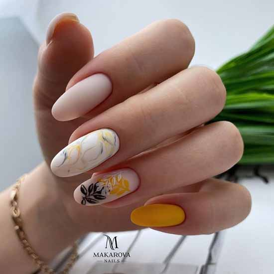 Elegant spring manicure