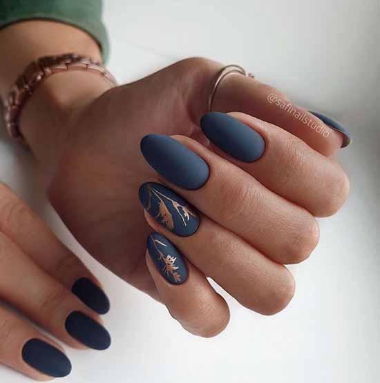 Elegant dark manicure