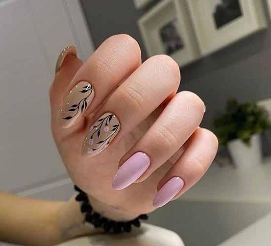 Beige and pink elegant manicure