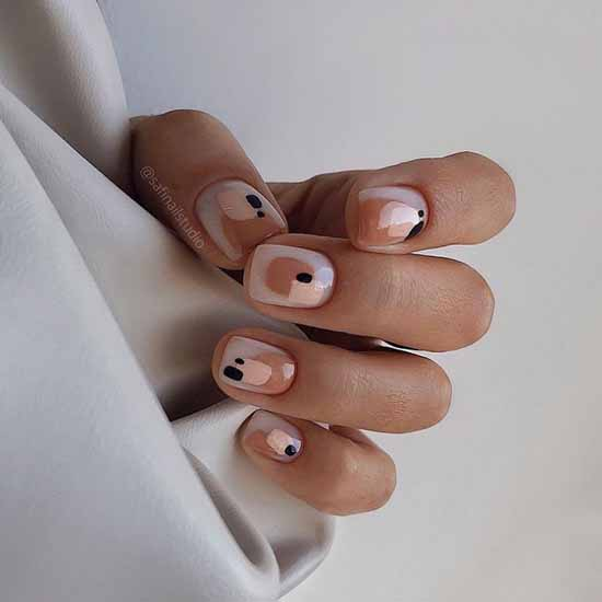 Elegant gentle manicure