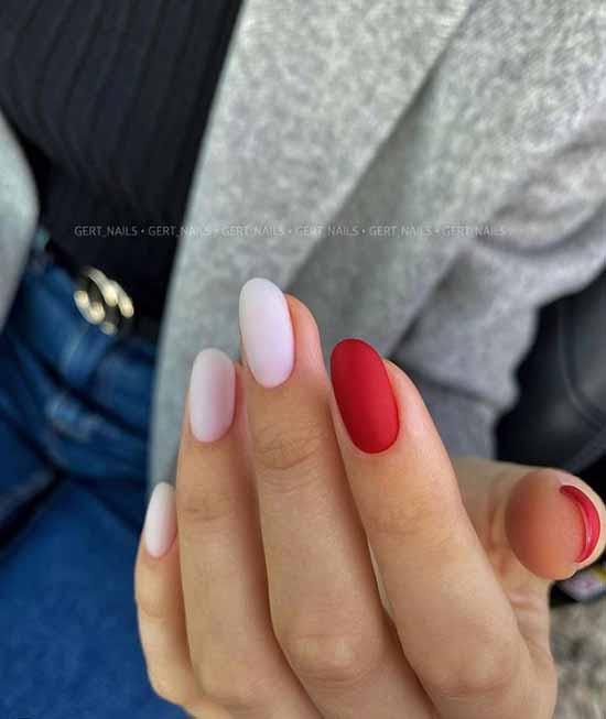 Two-tone elegant manicure