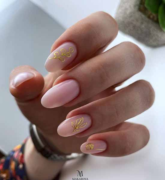 Elegant summer manicure