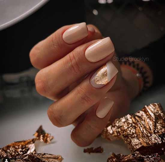 Elegant manicure with foil