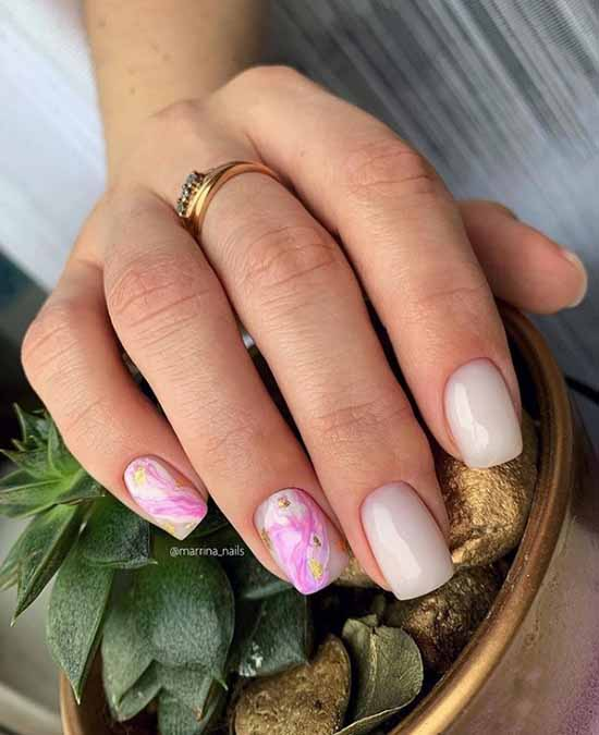 Elegant manicure 2021: photo, delicate nail design