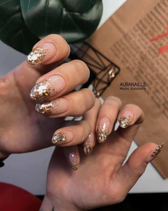 French gold sequins