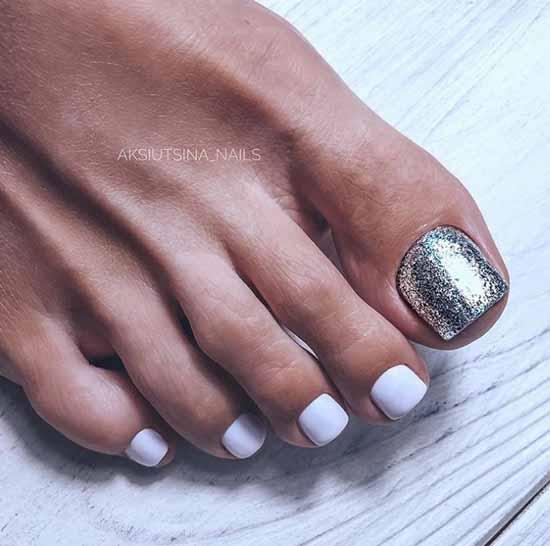 Silver pedicure