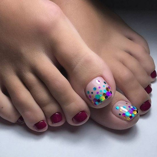 Fresh ideas for pedicure with gel polish.  Only the best options