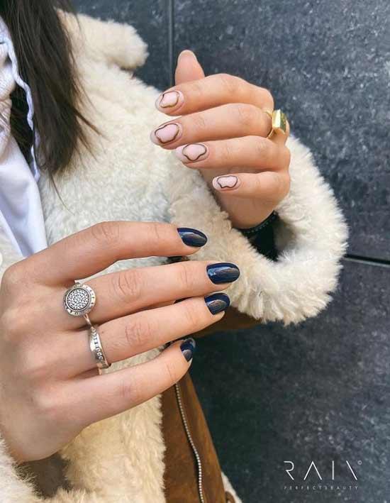 Winter nude manicure