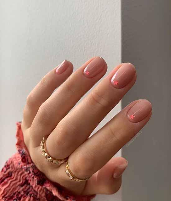 Asterisks in winter manicure