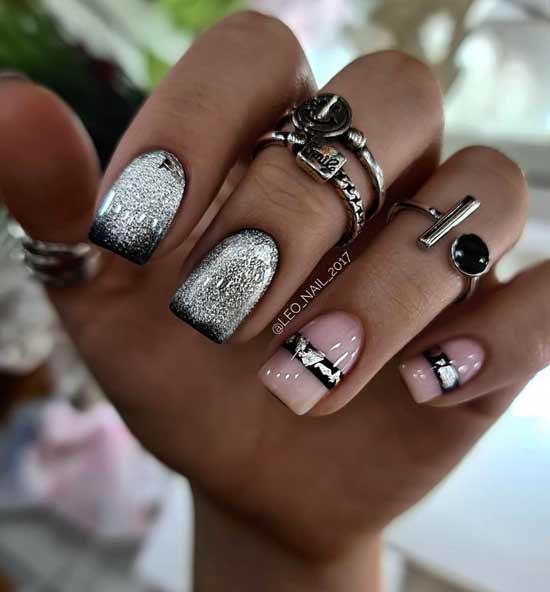 Cat's eye design on nails