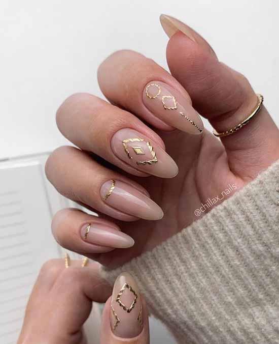 Ideas for winter nude manicure