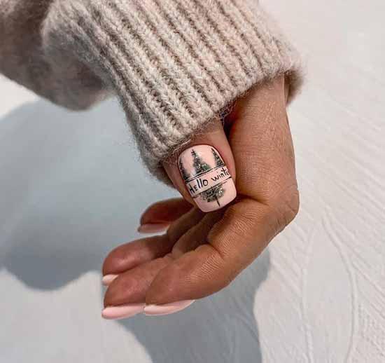 Winter landscape on nails