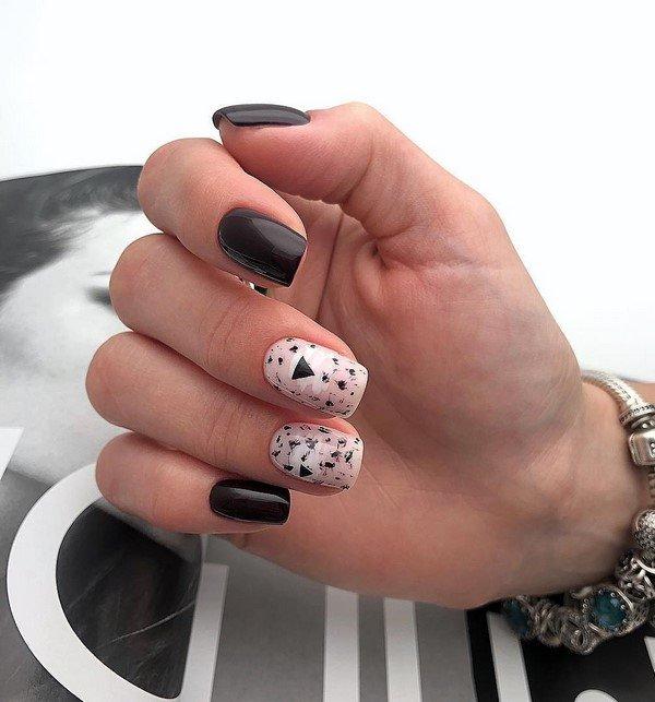 Shellac manicure.  Excellent stylistics, designs, photo ideas