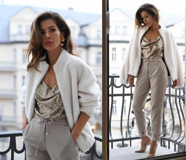 New Year's look with joggers