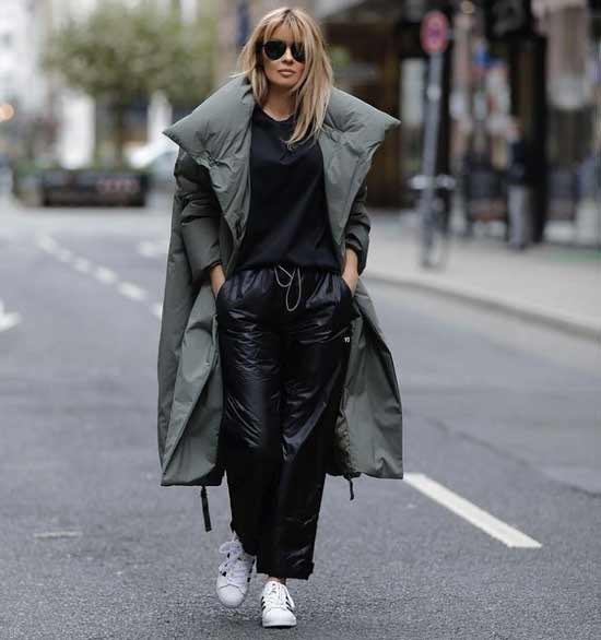 What to wear with leather joggers
