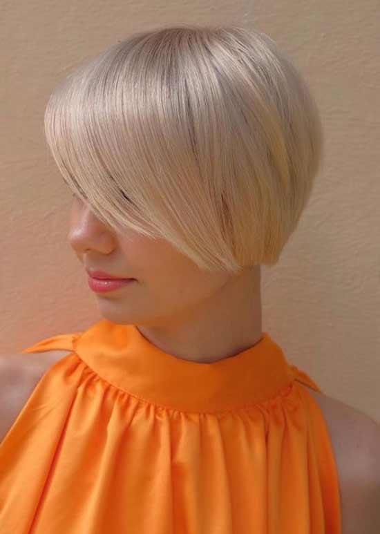 Blonde haircut Muscovite