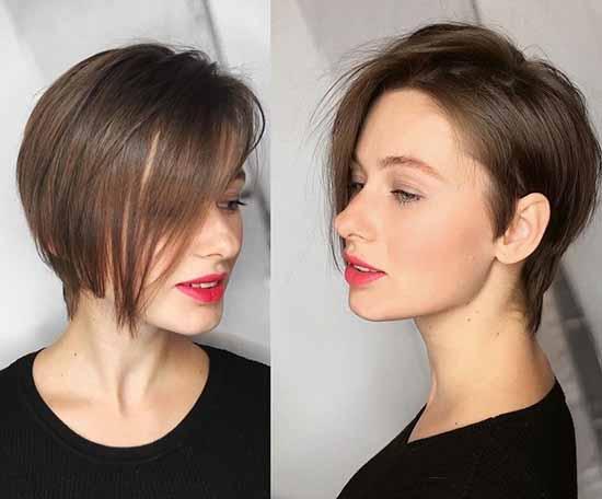 "A haircut ""Muscovite"": photo for short and medium hair"