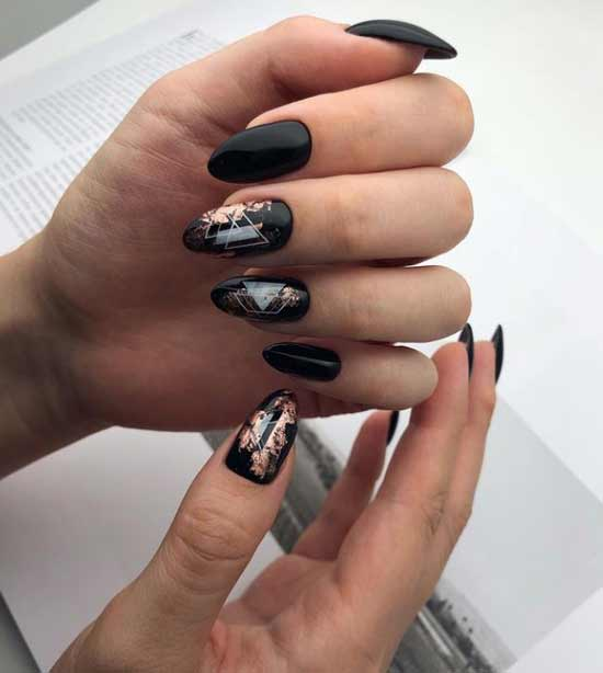 Black with colored foil
