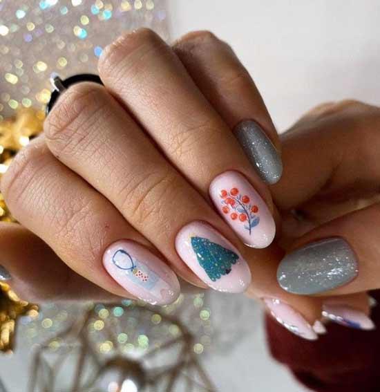 Trendy manicure winter